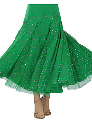 Ballroom Dance Tutus & Skirts Women's Performance Milk Fiber Draped 1 Piece Skirt
