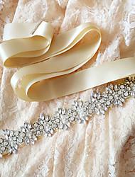 povoljno -Saten Vjenčanje Zabava / večer Svakodnevica Pojas With Štras Kristal Perlica Biser Šljokice Žene Pojasi