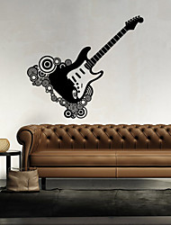 cheap -Music Guitar Wall Paper Shapes Wall Stickers Plane Wall Stickers,vinyl 43*46cm
