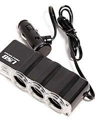 1-til-3 usb bil lighter strøm-splitter (DC 12V)