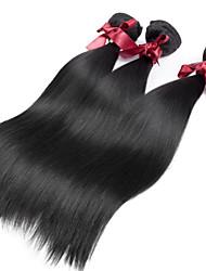 billige -3 Bundler Peruviansk hår Lige 8A Menneskehår, Bølget Menneskehår Vævninger Menneskehår Extensions / Ret