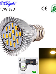cheap -E26/E27 LED Spotlight A50 15 SMD 5630 600 lm Warm White 3000 K Decorative AC 220-240 AC 110-130 V