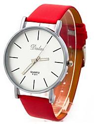 cheap -Women's Fashion Watch / Wrist Watch Large Dial PU Band Vintage Black / White / Red