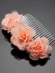 billige -chiffon legering hår kamme headpiece elegant klassisk feminin stil