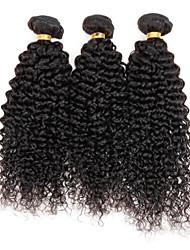 Cabelo Peruviano Weave Curly Crespo Cacheado Tramas de cabelo humano 3 Peças 0.3