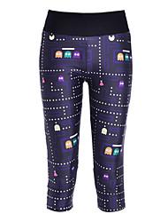 Mulheres Unisexo Leggings de Corrida Leggings de Ginástica Compressão Elástico Calças Leggings 3/4 calças justas para Ioga Exercício e