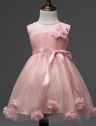 Robe Fille de Fleur Polyester Eté Rose / Jaune