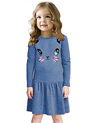 povoljno -Djevojka je Drugo Sva doba Haljina Crtići Sive boje Plava Fuksija