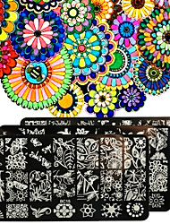 cheap -1pcs Nail Art Printing Plant Forest Garden Series Template