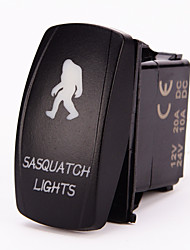 Iztoss 5pin Laser SASQUATCH Rocker Switch ON-OFF LED Light 20A 12V Blue