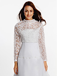 Long Sleeves Lace Wedding Party/Evening Wedding  Wraps With Lace Coats/Jackets