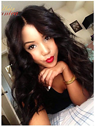 cheap -Human Hair U Part Wig Body Wave 120% / 130% Density Natural Hairline / African American Wig / 100% Hand Tied Women's Short / Medium Length / Long Human Hair Lace Wig