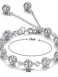 cheap -Women's Hollow Out Chain Bracelet / Charm Bracelet - Sterling Silver Bracelet White For Wedding / Party / Daily
