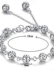 abordables -Femme Chaînes & Bracelets / Charmes pour Bracelets - Argent sterling Bracelet Blanc Pour Mariage / Soirée / Quotidien