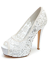 Women's Spring Summer Fall Platform Wedding Stiletto Heel Platform Black Pink Ivory White