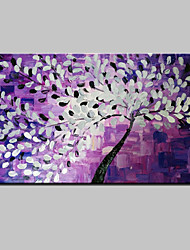 Hand-Painted Abstract Landscape Modern Blooming Flowers Knife Oil Painting On Canvas Ready To Hang One Panel