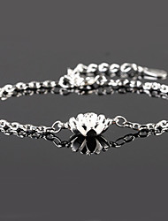 cheap -Women's Sterling Silver Chain Bracelet Charm Bracelet - Silver Bracelet For Wedding Party Daily