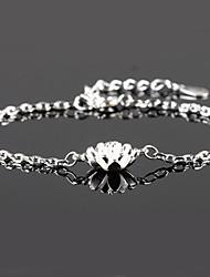 Dame Kæde & Lænkearmbånd Charm-armbånd Sølv Sølv Smykker For Bryllup Fest Daglig Afslappet 1 Stk.