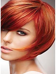 Недорогие -Парики из искусственных волос Прямой Стиль Без шапочки-основы Парик Красный Красный Искусственные волосы Красный Парик Короткие