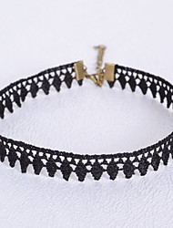 Dame Kort halskæde Gotiske smykker Geometrisk form Blonde Smykker Til Bryllup Fest Daglig Afslappet