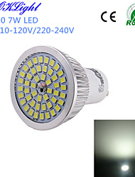 cheap -YouOKLight 600 lm GU10 LED Spotlight A50 48 leds SMD 2835 Decorative Cold White AC 110-130V AC 220-240V