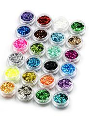 Недорогие -24 Украшения для ногтей Пайетки Декоративные наборы Мода Милый Высокое качество Повседневные