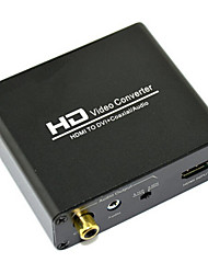 economico -hd convertitore video HDMI a DVI + hot Audio Converter Audio Converter 2.1 canali canale 5.1ch 720p 1080p coassiale
