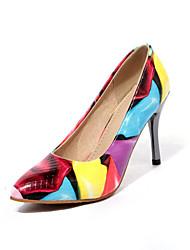 Недорогие -Черный / Желтый / Красный - Женская обувь - Свадьба / Для офиса / Для праздника / На каждый день - ПВХ / Дерматин - На шпильке -На