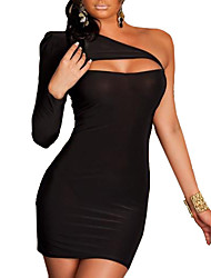 XiXiangYi® Sexy One-shoulder Cotton and Spandex Mini Dress