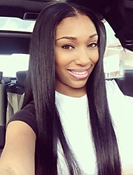 Light YAKI Virgin Peruvian Human Hair Lace Wigs Cheap Front/Full Lace Wigs Human Yaki Straight Hair Wigs for Black Woman