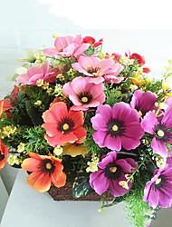 High Quality 7 Forks Sakura Simulation Flower Artificial Flower Home Decoration