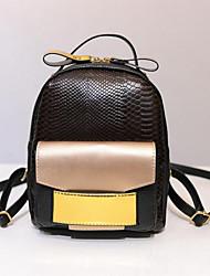 povoljno -Žene Torbe PU ruksak za Kauzalni Vanjski Sva doba Crn Sive boje Braon