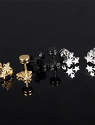 cheap -Men's Women's Stud Earrings Costume Jewelry Titanium Steel Star Jewelry For Wedding Party Daily Casual Sports