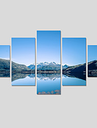 Unframed 5 Piece Lake Water Modern Home Wall Decor Canvas Picture Art HD Print Painting On Canvas Wedding Painting