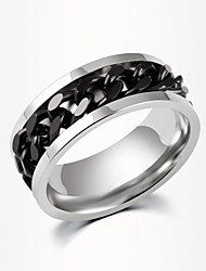 cheap -Women's Band Ring - Zircon Fashion 6 / 7 / 8 Black / Silver / Golden For Wedding / Party / Daily