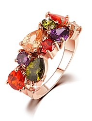 cheap -Women's Statement Ring - Zircon Fashion 6 / 7 / 8 Rainbow For Wedding / Party / Daily