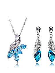 cheap -Women's Crystal Jewelry Set - Crystal Include White / Yellow / Blue For Wedding Party Daily / Earrings / Necklace