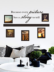 cheap -Landscape Romance Fashion Shapes Cartoon Words & Quotes Holiday Fantasy Wall Stickers Plane Wall Stickers Decorative Wall Stickers Photo
