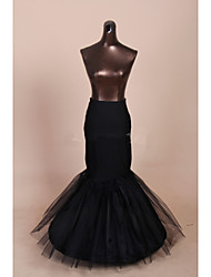 Slips Mermaid and Trumpet Gown Slip Floor-length 3 Tulle Netting Polyester Black