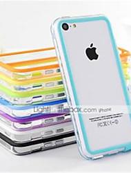 df colore doppio mezzo TPU trasparente paraurti molle per il iphone 5c