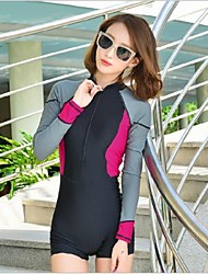 cheap -Women's Dive Skin Suit Waterproof Ultraviolet Resistant Softness Full Body Chinlon Long Sleeves Diving Suits Rash Guard Swimwear Swimming