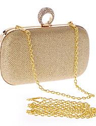 preiswerte -Damen Taschen Polyester Abendtasche Crystal / Strass für Hochzeit Veranstaltung / Fest Formal Büro & Karriere Ganzjährig Gold Schwarz