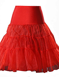 cheap -Women's Going out Cute A Line Skirts - Solid Colored, Mesh