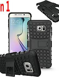 billiga -DE JI fodral Till Samsung Galaxy Samsung Galaxy S7 Edge Stötsäker / Läderplastik Skal Rustning PC för S7 edge / S7 / S6 edge plus