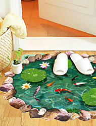 Wall Stickers Wall Decals Style The Pond Fish Pond Scenery Waterproof Removable PVC Wall Stickers