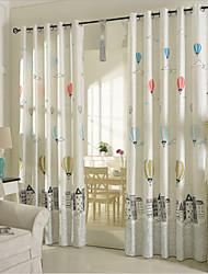 Barra no Interior Anéis Presilhas Duplo Plissado Único Plissado Dois Painéis Tratamento janela Neoclassicismo Quarto Poli/Mistura de