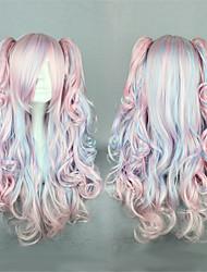 Недорогие -Парики для Лолиты Сладкое детство Розовый Sweet Lolita Парики для Лолиты 24 дюймовый Косплэй парики Пэчворк Парики Хэллоуин парики