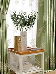 Недорогие -1 панель Современность Цветочные / ботанический В соответствии с фото Спальня Лен/хлопок Панель Шторы занавески