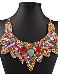 MPL European and American fashion all-match Bohemia wind shell necklace glass beads