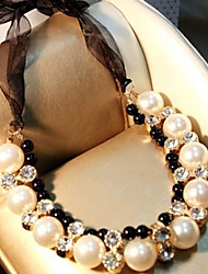 MISSING U Party / Casual Alloy / Cubic Zirconia / Imitation Pearl Statement Necklace